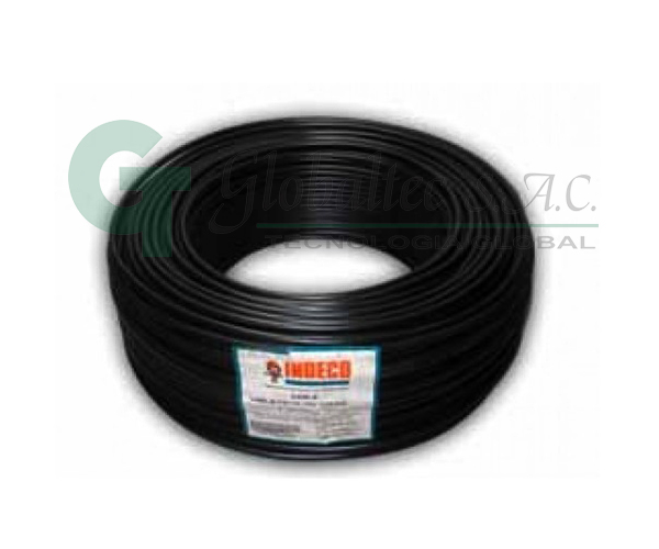 Cable THW-90 12 AWG negro 450/750 V - INDECO