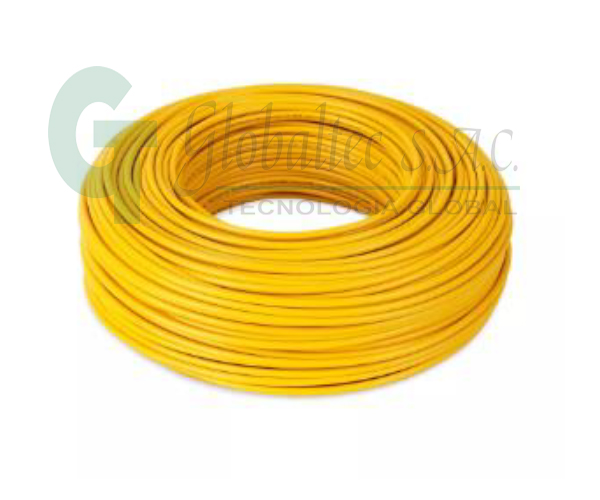 Cable THW 14AWG (CU) 750V 90°C PVC 7H 203691 amarillo-  - CENTELSA